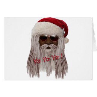 (Donkere) kerstman in Ontzetting - Jojo Yo! Briefkaarten 0
