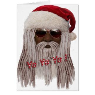 (Donkere) kerstman in Ontzetting - Jojo Yo! Kaart