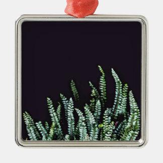 Donkere Natuur Zilverkleurig Vierkant Ornament