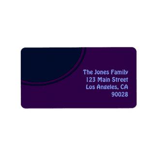 Donkere paarse blauwe mod.cirkel etiket