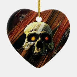 Donkere Schedel Keramisch Hart Ornament