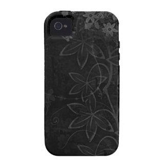 Donkere Vectorbloemensamenvatting iPhone 4 Hoesjes