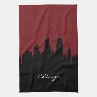 Donkerrode Horizon | van Chicago Theedoek