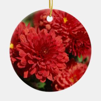 Donkerrode Sereniteit Rond Keramisch Ornament