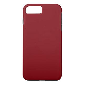 DONKERRODE stevige kleurenkleuring, kerels & iPhone 8/7 Plus Hoesje