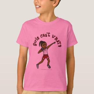 Donkerrood Gezet Schot T Shirt