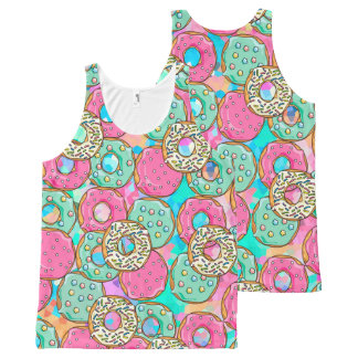 Donuts Galore All-Over-Print Tank Top