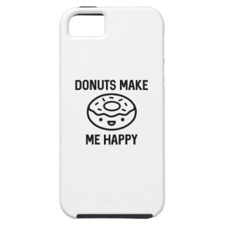 Donuts maakt me Gelukkig Tough iPhone 5 Hoesje
