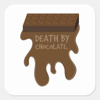 Dood door Chocolade Vierkant Sticker