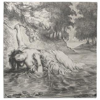 Dood van Ophelia Katoenen Servet