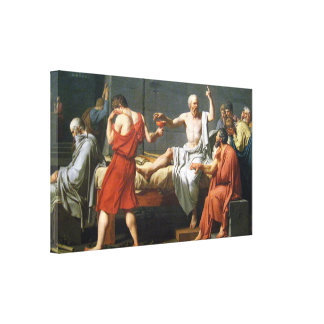Dood van Socrates door J.L. David - op Canvas ~