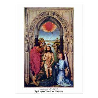 Doopsel van Christus door Rogier van der Weyden Briefkaart