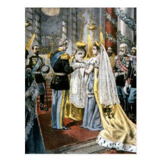 Doopsel van Grote Hertogin Tatiana, dochter van Briefkaart