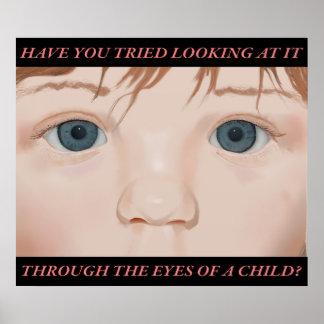 Door de Ogen van een Kind; poster met tekst