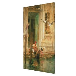 Door het Kanaal, Venetië Canvas Afdrukken