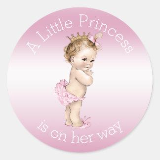 Doorboor Weinig Baby shower van de Prinses Ronde Sticker