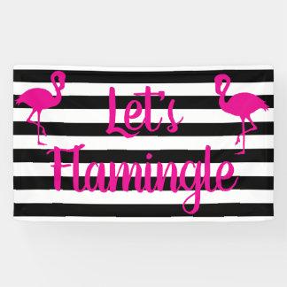 Doorboren Flamingle Flamingo Spandoek