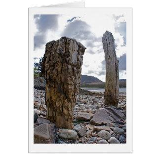 Doorstane Netto Posten door het Loch Wenskaart