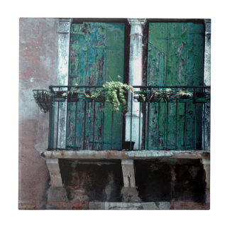 Doorstane Venetiaanse Portiek Tegeltje