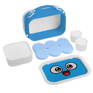 Doos van de Lunch van het boe-geroep de Blauwe Lunchbox