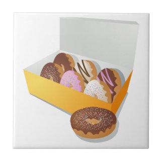 Doos van Donuts Keramisch Tegeltje