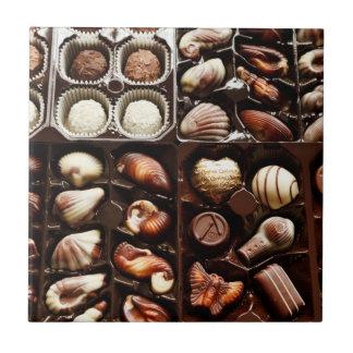 Doos van het Snoep van de Chocolade Tegeltje