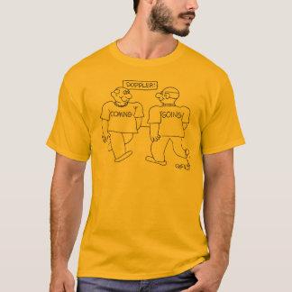 """Doppler: man: """"volgend"""" passenman 'going t shirt"""