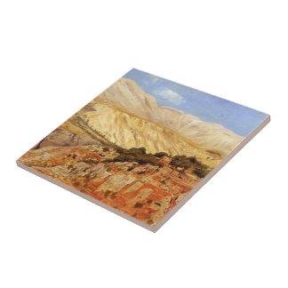 Dorp in de Bergen van de Atlas, Marokko door Edwin Keramisch Tegeltje