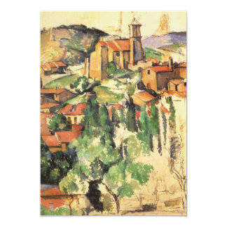 Dorp van Gardanne Cezanne, Vintage Impressionisme Uitnodigingen