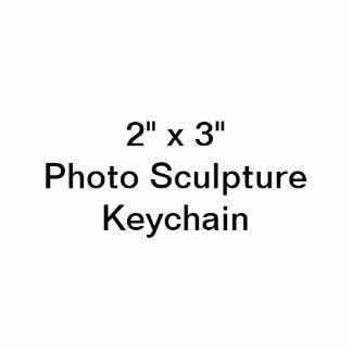 """Douane 2"""" x 3"""" het Beeldhouwwerk Keychain van de F Fotobeeldje Sleutelhanger"""