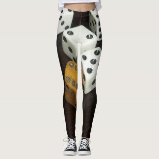 douane beenkappen w/dice leggings