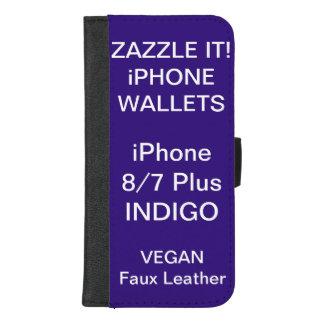 Douane Gepersonaliseerde iPhone 8/7 van de INDIGO iPhone 8/7 Plus Portemonnee Hoesje