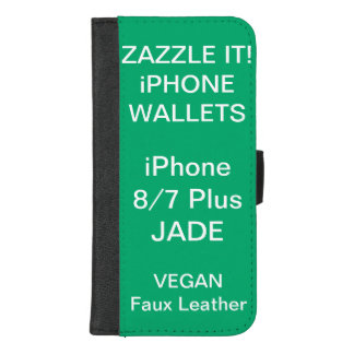 Douane Gepersonaliseerde iPhone 8/7 van de JADE iPhone 8/7 Plus Portemonnee Hoesje