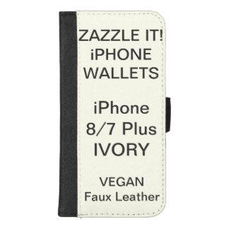 Douane Gepersonaliseerde iPhone 8/7 van het IVOOR iPhone 8/7 Plus Portemonnee Hoesje
