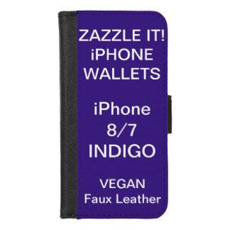 Douane Gepersonaliseerde iPhone van de INDIGO 8/7 iPhone 8/7 Portemonnee Hoesje