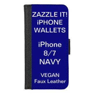 Douane Gepersonaliseerde iPhone van de MARINE 8/7 iPhone 8/7 Portemonnee Hoesje
