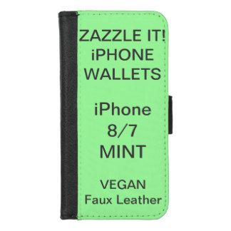 Douane Gepersonaliseerde iPhone van de MUNT 8/7 iPhone 8/7 Portemonnee Hoesje