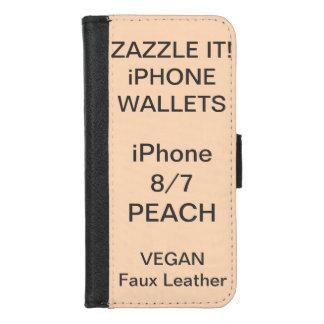 Douane Gepersonaliseerde iPhone van de PERZIK 8/7 iPhone 8/7 Portemonnee Hoesje