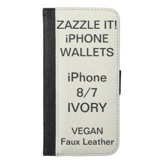 Douane Gepersonaliseerde iPhone van het IVOOR 8/7 iPhone 6/6s Plus Portemonnee Hoesje