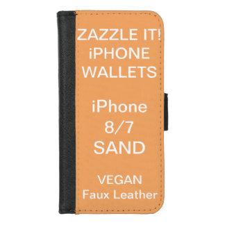 Douane Gepersonaliseerde iPhone van het ZAND 8/7 iPhone 8/7 Portemonnee Hoesje
