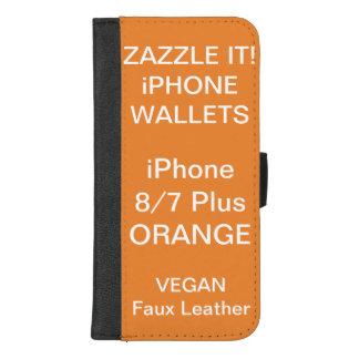 Douane Gepersonaliseerde ORANJE iPhone 8/7 plus iPhone 8/7 Plus Portemonnee Hoesje