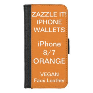 Douane Gepersonaliseerde ORANJE iPhone 8/7 Spatie iPhone 8/7 Portemonnee Hoesje
