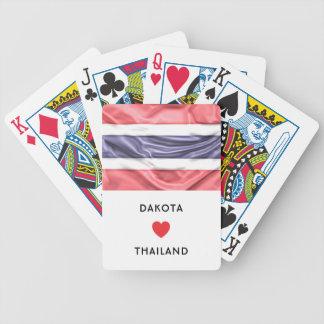 Douane I de Vlag van het Hart van Thailand Bicycle Speelkaarten