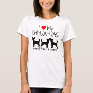 Douane I houdt van Mijn Drie Chihuahuas T Shirt