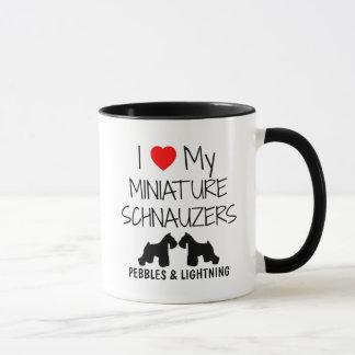 Douane I houdt van Mijn Twee MiniatuurSchnauzers Mok