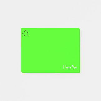 Douane I houdt van u Trillende Groen van | Post-it® Notes