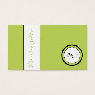 Douane-kleur Monogram en Naam Visitekaartjes