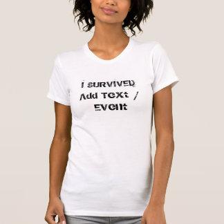 Douane OVERLEEFDE ik T-shirt van Jersey van