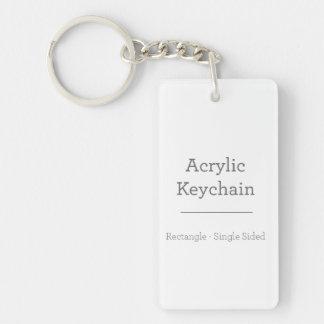 Douane Rechthoekige Keychain 1-Zijde Rechthoekige Acryl Sleutelhanger
