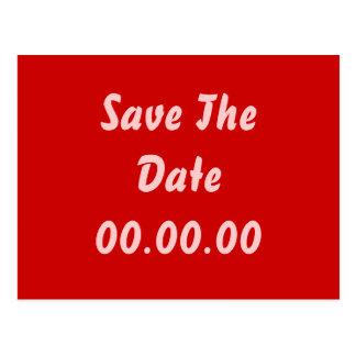 Douane, sparen de Datum. Rood en Roze Briefkaart